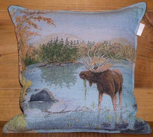 Moose in the lake Balsam Pillow