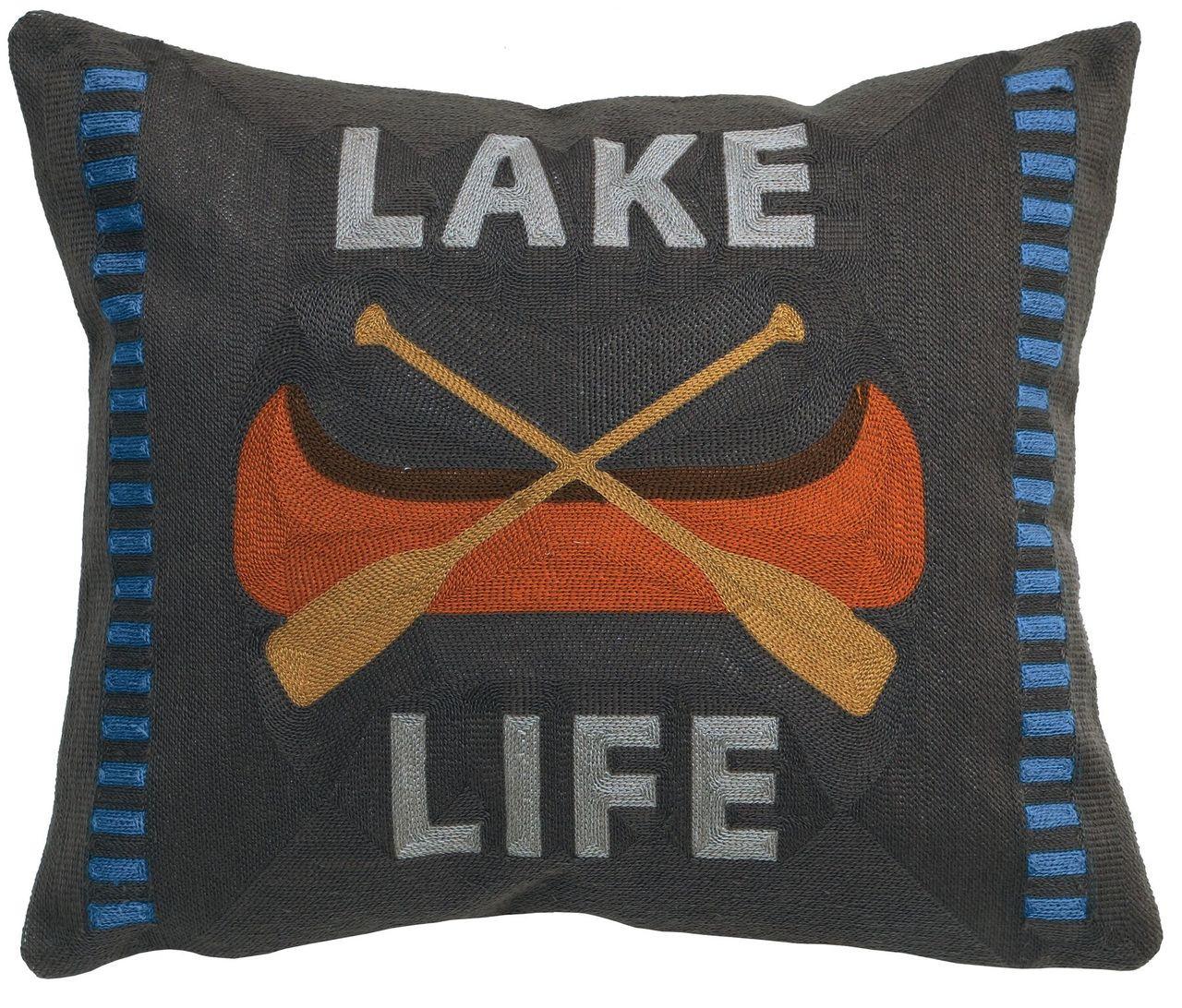 Lake Life Pillow Adirondack Country Store