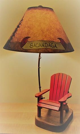 ... Personalized Adirondack Chair Lamp. Image 1