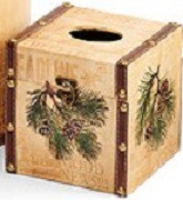 Pinecone Tissue Box