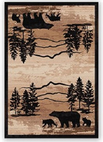 Mountain Shadow Bear Rug