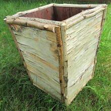 Birch Bark Wastebasket