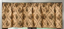 Beige Diamond Pinecone Valance