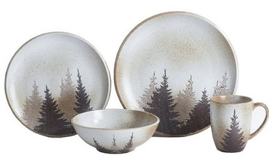 Image 1  sc 1 st  Adirondack Country Store & Clearwater Pines Dinnerware set - Adirondack Country Store