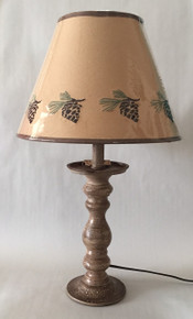 Pinecone Candlestick Lamp - 20""