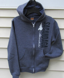 Navy Heather Kid's Hoodie