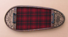 Antique Snowshoe Serving Tray Red Plaid