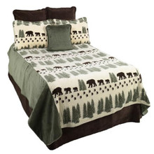 Pearl Denali Bear Bedding and Throw