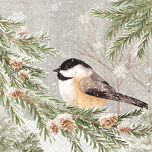 Peaceful Chickadee Beverage Napkins