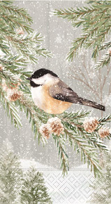 Peaceful Chickadee Guest Towel/Buffet Napkins