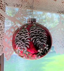 Hand Painted Ornament - Pinecones