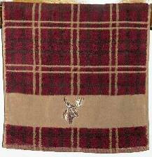 Plaid Moose Hand Towel