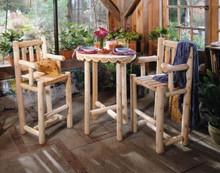 Cedar Log Bistro Set