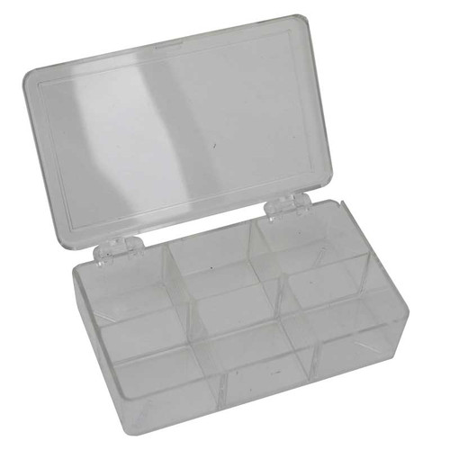 Styrene Storage Box 6 Compartments for Jewelry and Watch Parts