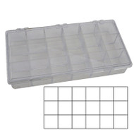 Styrene Storage Box 18 Compartments for Jewelry and Watch Parts