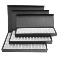 Leatherette assortment box with 12 torage bottles