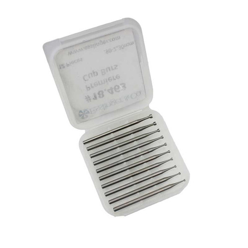 Cup bur 12 pcs .90- 2.30 mm for rotary tools