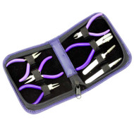 7 piece minature tool set for jewelry and watch repair