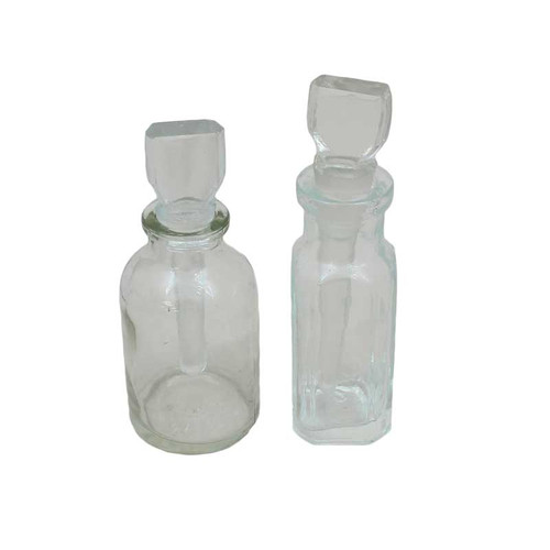 Glass Acid Storage Bottle Jar .5 oz