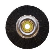 "Brush Black Bristle Wheel Steel Hub 1-3/4"" Dia 3/16"" Hole Each"