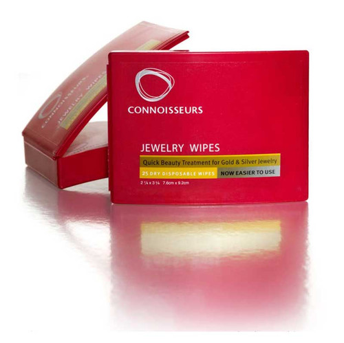 Connoisseurs two in one jewelry cleaner and polishing wipes