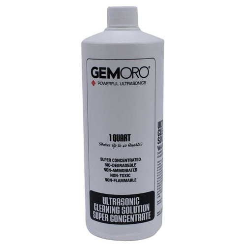 GemOro Ultrasonic Jewelry Cleaner Solution - Concentrate (Quart)