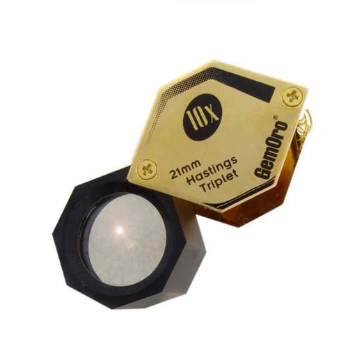 21 mm 10x hex precision triplet diamond jewelry loupe
