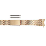 Stainless steel yellow gold tone jubilee style link watch band