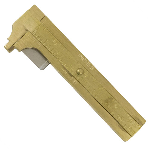 """3"""" Inch 80mm Deluxe Brass Jewelry Caliper Gauge"""