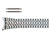 20MM stainless steel metal tapered curved end expansion watch band