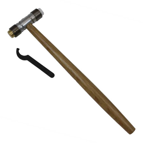 Brass & Nylon Hammer Jewelry Hammer with Detachable Faces