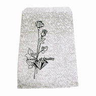 6 by 9 inch silver crackle jewelry gift bags