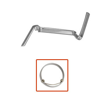 Mens white gold counter-loc ring guards