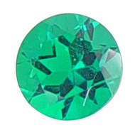 Round Lab Created Emerald