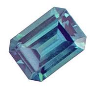 Emerald Cut Lab Created Alexandrite