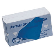 100 Antwerp style white diamond papers with watermark