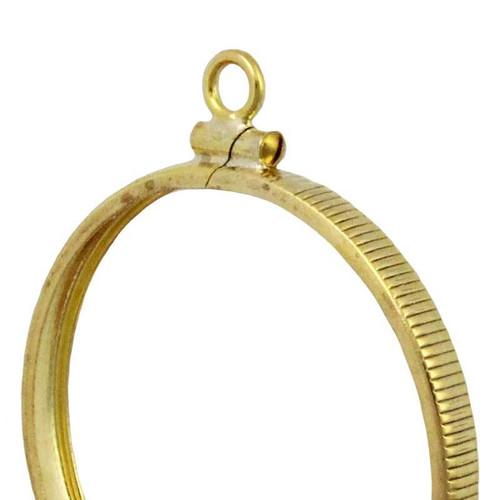Coin bezel nickel yellow gold filled coin edge coin frame pendant yellow gold filled coin bezel pendant aloadofball Gallery