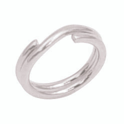 1 Package Sterling Silver Split Ring Round