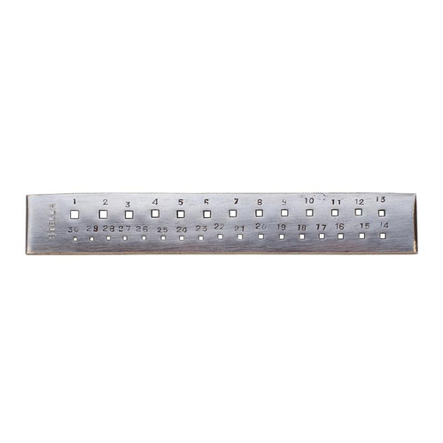 30-hole square tungsten draw plate for shaping round wire 1.65mm-4.10mm