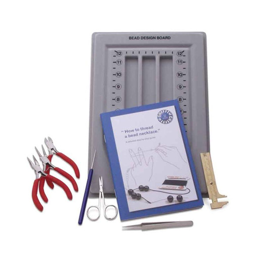 Basic beading kit with jewelry tools pliers and more