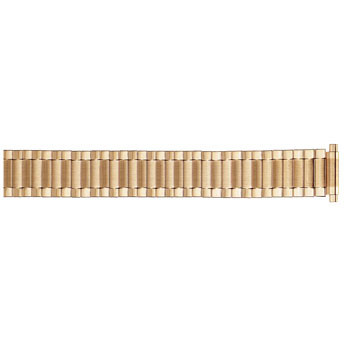 22MM men's yellow gold tone classic expansion metal watch band