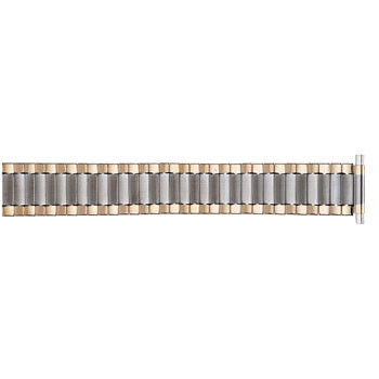 Men's 22mm classic two-tone metal expansion watch band