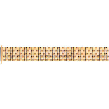 Men's stainless steel classic weave yellow gold tone watch band