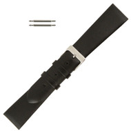 18MM Watch Band Black Leather Luxury Calf