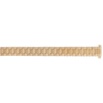 14mm gold color classic expansion watch band for ladies
