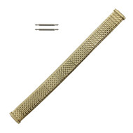 Metal Watch Band 10-14 MM Ladies Yellow Gold Tone Expansion Style With Expandable Ends