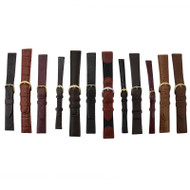 12 piece assortment of leather watch bands of different sizes
