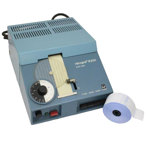 36mm blue tinted timing machine paper for the Vibrograph B200