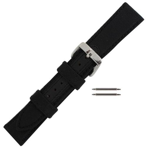 18MM black Robosport ballistic mens watch band