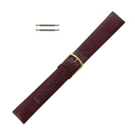 Watch Band 16 MM Red Leather Lizard Grain